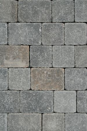 Close up of a stone wall showing unique pattern.