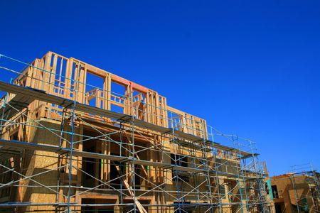 Fermeture des bâtiments en construction.  Banque d'images - 2871960