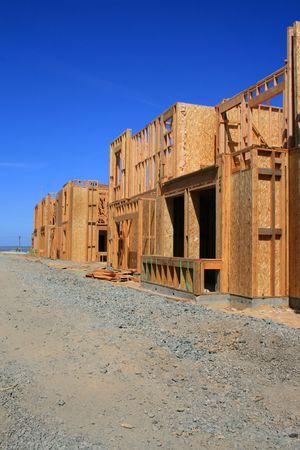 Près des bâtiments en construction. Banque d'images - 2871963