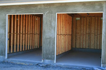 Close up of the garages under construction. Stock Photo - 2871907