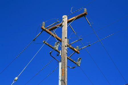 technolgy: Telephone Pole Stock Photo