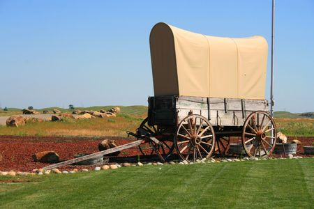 western usa: Wagon  Stock Photo