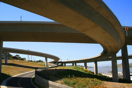 carriageway: Road Under the Freeway Ramps