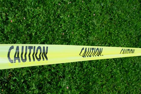 hazard tape: Caution Tape Stock Photo