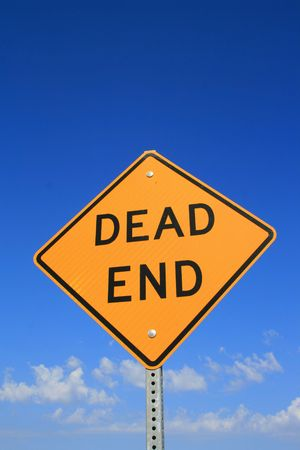 end road: Dead End Road Sign Stock Photo