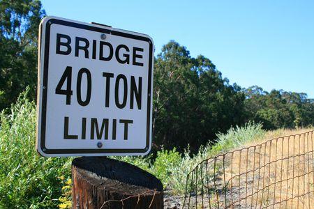 Bridge Forty Ton Limit Sign