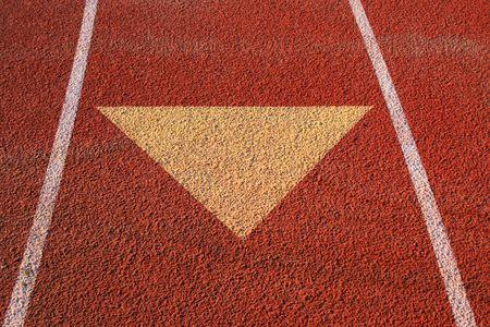 Arrow on a Running Lane photo