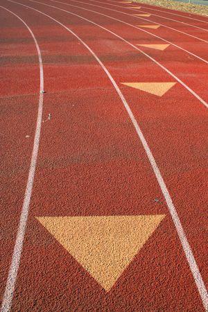 Arrows on Running Lanes photo