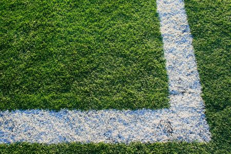 yardline: Artificial Turf on a Sports Field Stock Photo