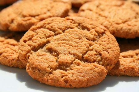 Ginger Snap Cookies Stockfoto