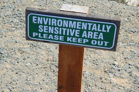 Environmentally Sensitive Area Sign Imagens