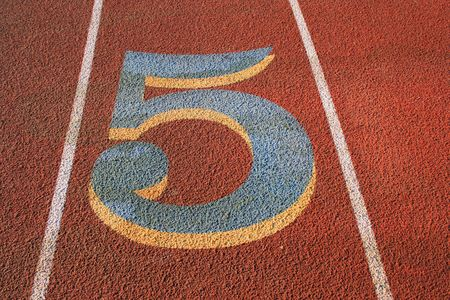 Number Five on a Running Lane photo