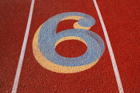 Number Six on a Running Lane photo