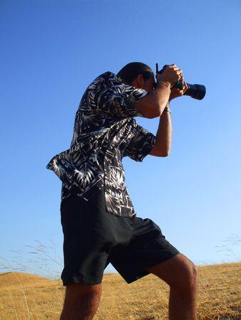 metalized: Photographer Stock Photo