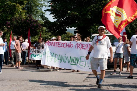 padania: demonstration against the space of padania