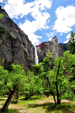 Stunning waterfall in Yosemite National Park, California Stock Photo
