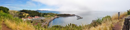 Panorama of marina with boats in San Francisco Bay