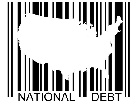 Bar code with the United States and our growing national debt