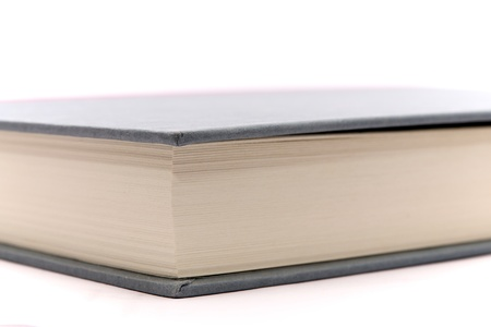 Up close shot of a hardcover book Stock Photo