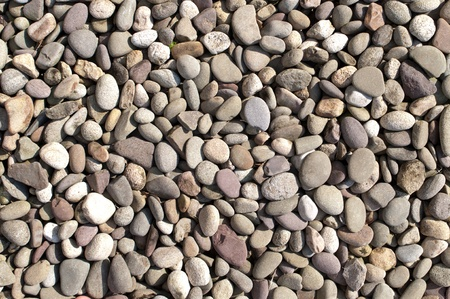 Rover stones of different colors laid out on the ground