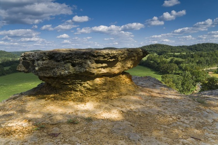 feature: Landscape of an interesting rock feature on a sunny day