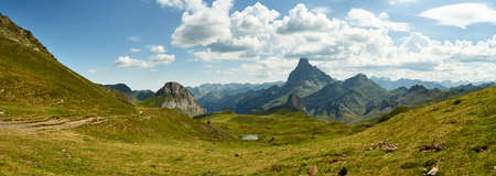 panoramic landscape of the pyrenees