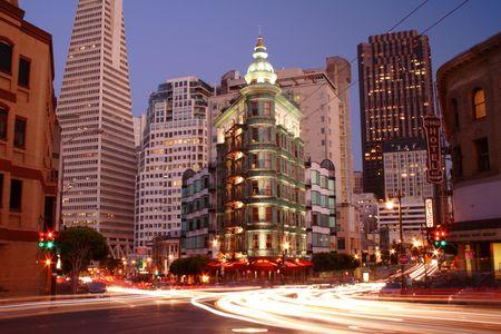 sentinel: San Francisco, USA - August 26, 2007 - Sentinel Building at night