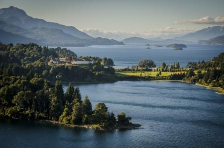 アルゼンチン パタゴニア、ナウエルウアピ湖 写真素材