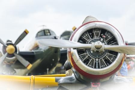 WWII aircraft at an airport near Oshkosh, USA Redakční