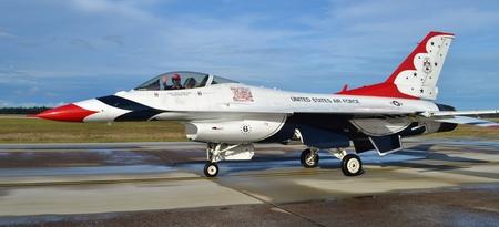 thunderbird: Air Force Thunderbird F-16 Fighter Jet Editorial