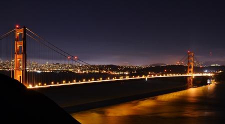 exposicion: Puente Golden Gate - Exposición larga Foto de archivo