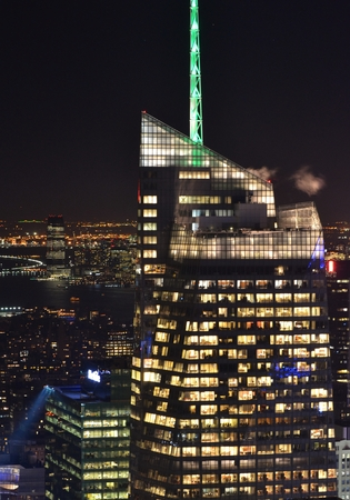 bank of america: Bank of America Tower at Night Editorial