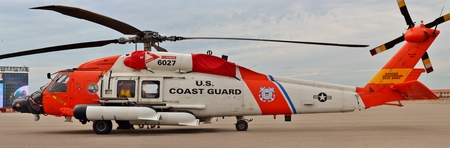 coast guard: Coast Guard MH-60 Jayhawk Rescue Helicopter Editorial