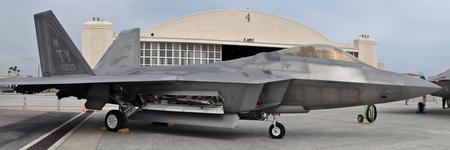 fighter jet: F-22 Raptor Fighter Jet on Runway