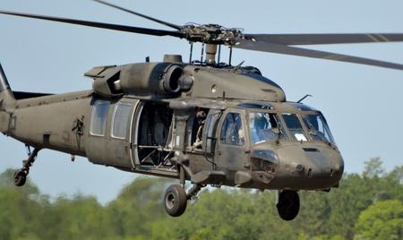 陸軍 UH-60 ブラック ホーク ヘリコプター 報道画像