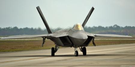 raptor: F-22 Raptor Fighter Jet Taxiing Editorial
