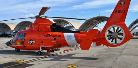 rescue helicopter: Coast Guard H-65 Rescue Helicopter