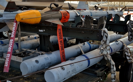 Air Force AIM-9 Sidewinder and AIM-120 AMRAAM Missiles