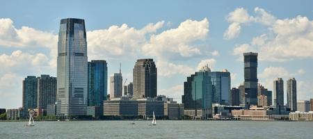 ニュージャージー州ジャージーシティのスカイライン 報道画像