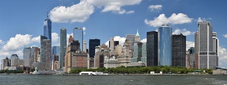 Skyline of Downtown New York City Stok Fotoğraf