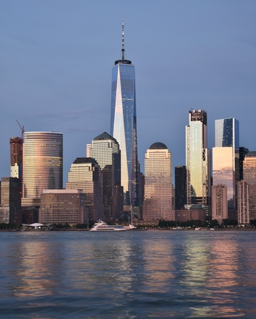 Freedom Tower and Skyline of World Financial Center