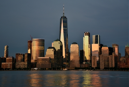 Downtown Manhattan Skyline Stok Fotoğraf
