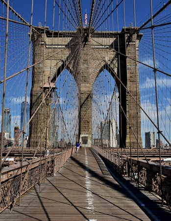 Brooklyn Bridge in NYC Stok Fotoğraf
