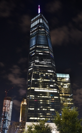 The Freedom Tower (One World Trade Center) at night