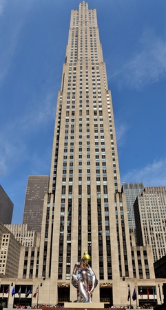 The 30 Rockefeller (30 Rock) building in midtown Manhattan in New York City