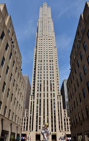 The 30 Rockefeller (30 Rock) building in midtown Manhattan in New York City