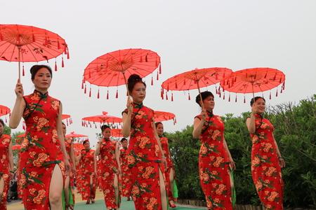 Chinese cheongsam show