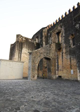 CUERNAVACA, MORELOS, MEXICO - 2010: Side of the Cathedral La Asuncion Editorial