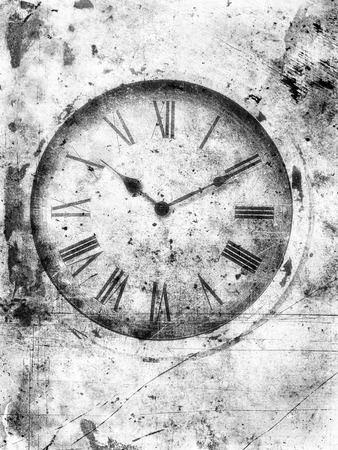 platinum: Textured old clock in platinum with a weathered look.