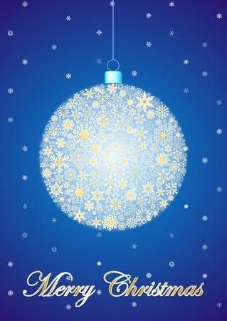 Blue Christmas postcard Vector
